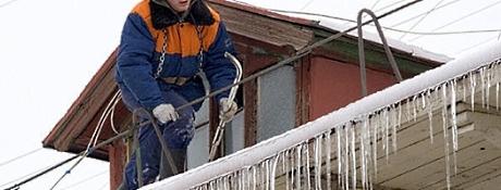 Очистка крыш от снега Винница