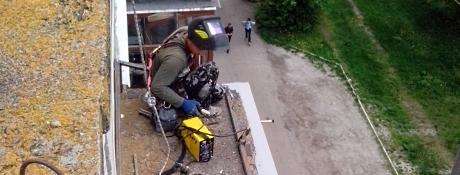 Ремонт балконных козырьков Винница